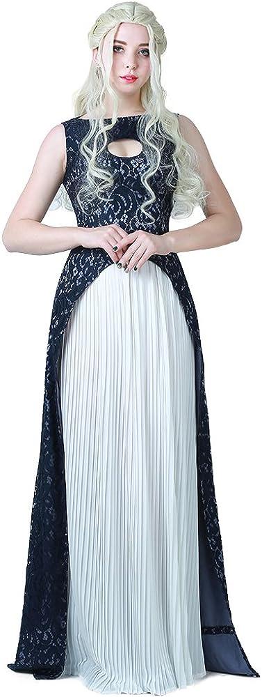 miccostumes Women's Khaleesi Dress Cosplay Long-awaited Arlington Mall Halloween Costume
