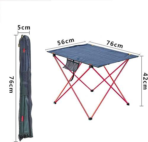 YH-HW Extérieur Tabouret Pliant, portable Mini Simple Multi-Function Léger Pêche Tabourets de Camping Loisir Voyage Plage Pique-niques Patio Tabourets-Table 56x76x42cm
