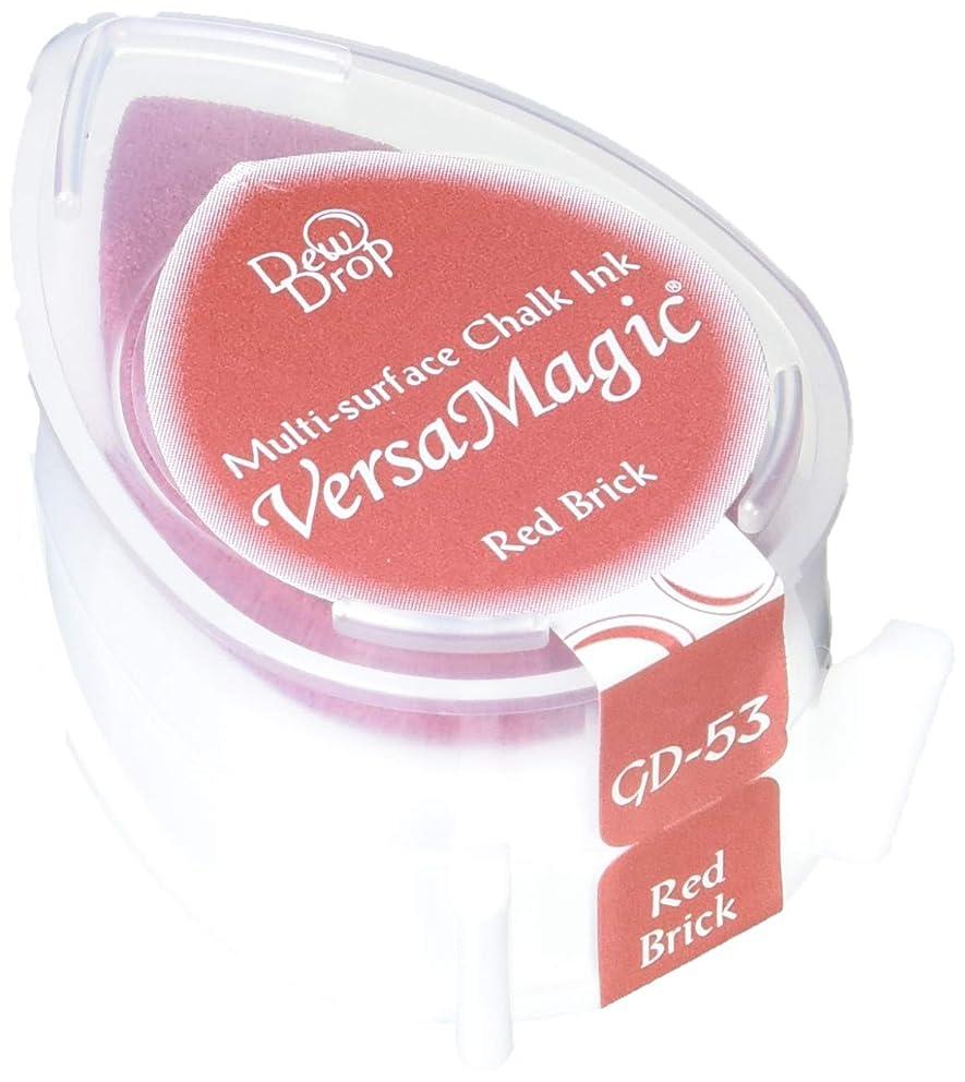 Tsukineko VersaMagic Dew Drop Inkpad of All Kinds, Red Brick
