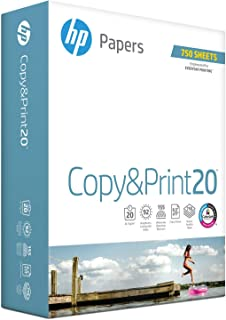 HP Printer Paper, Copy and Print20, 8.5 x 11 Paper, Letter Size, 20lb Paper, 92 Bright, 750 Sheets / 1 Ream (200030R) Acid Free Paper