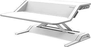 Fellowes Lotus Sit-Stand Workstation Desk, Adjustable, Pre-Assembled, White