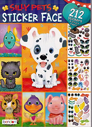Bendon Silly Pets Face Repositional Stickers Fun Activity Book
