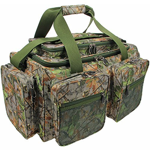 NGT CARP FISHING CAMO TACKLE BAG DELUXE MULTI POCKET CARRYALL HOLDALL XPR