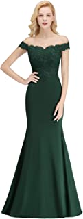 Off-Shoulder Mermaid Long Evening Formal Prom Dresses for Women