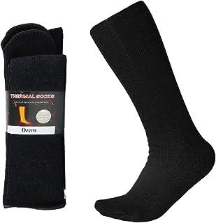 OZERO Winter Thermal Socks with Heel Free Design, Knee High Tube Boot Socks for Men and Women