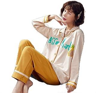 Howely Womens Plus-Size Loungewear Long Sleeve Pajama Set Tops with Capri Pants