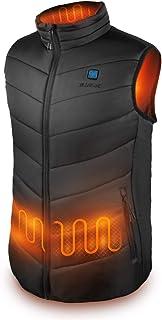 IUREK Chaleco Calefactable Hombre ZD920, Chaleco Térmico Impermeable y Lavable con Banco de Energía 10000 mAh, 3 Temperatu...