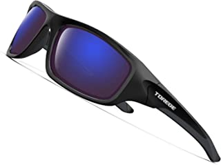 TOREGE Polarized Sports Sunglasses for Man Women Cycling Running Fishing Golf TR90 Frame TR011 -Upgrade