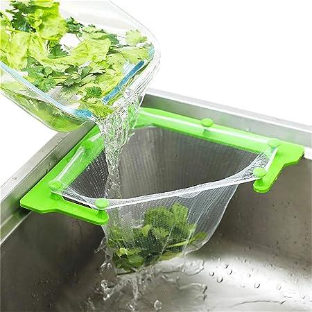 Sink Strainer Bag Leftovers Garbage Storage Rack Triangle Tri-Holder Filter