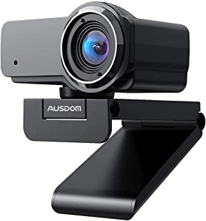 AUSDOM Webcam 1080P Pro Full HD con Micrófono USB Cámara PC Gran Angular para Video Chat/Grabación en Youtube/Skype Compatible con Windows 7/8/10 / XP/Chrome/Mac OS