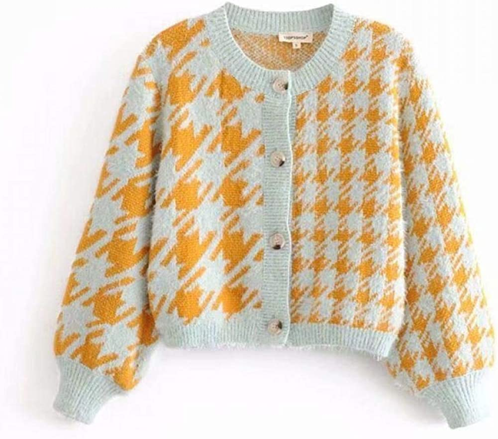 Retro Suit Fluffy Korean Style Cardigan Single-Breasted Vest Knitted Sweater Pullover