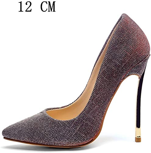 JRSHODA Femmes Chaussures à Talons Talons Hauts Chaussures à Talons Femme Plus La Taille Pointu Toe Pompes De Fête De Mariage Stiletto Stripe Bleu Rouge  pas cher en haute qualité