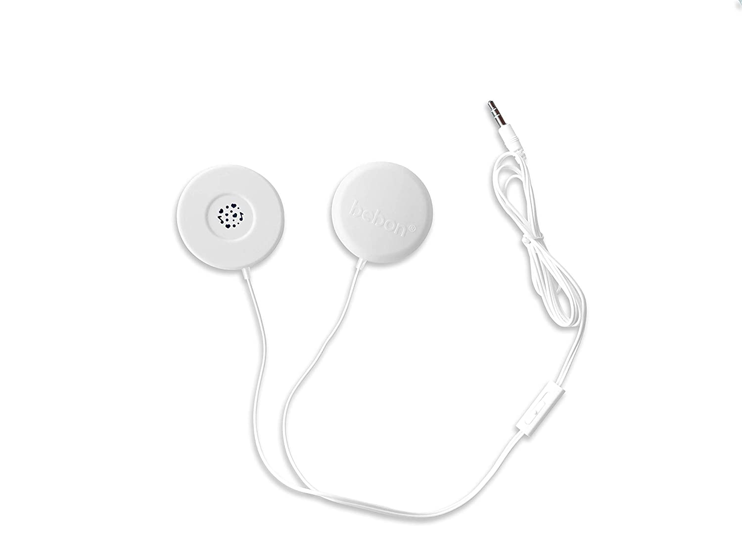 Baby-Bump Headphones – Plays and Shares Music, Sound and Voices to The Womb – Premium Baby Bump Speaker System – Including bebon Tunes APP (iOS and Android) (White)