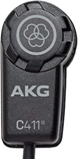 AKG Pro Audio C411 PP High-Performance Miniature Condenser Vibration Pickup for Stringed Instruments with MPAV Standard XL...