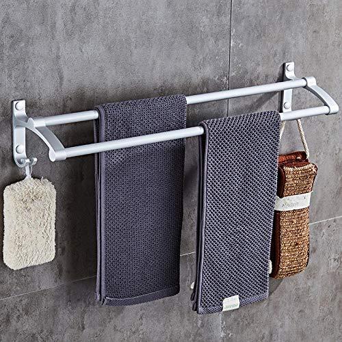 Espacio de aluminio toalla de toalla doble polo polo de toalla única barra de baño rodillo colgante toalla colgante colgante-70 cm