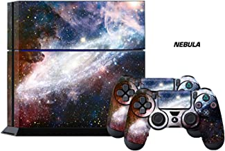 PS4 Console Designer Skin for Sony PlayStation 4 System plus Two(2) Decals for: PS4 Dualshock Controller Nebula