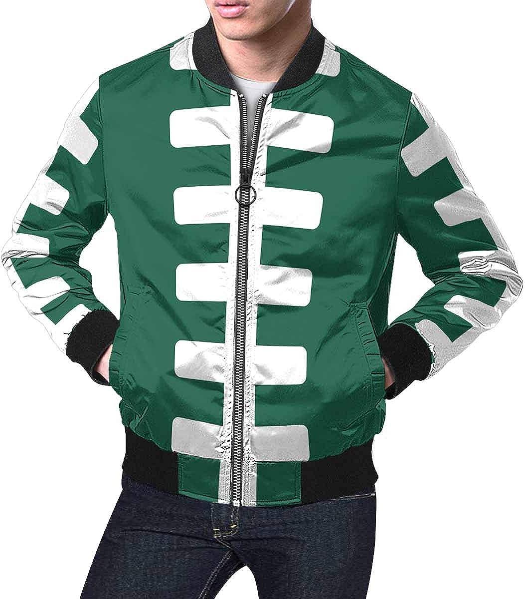 INTERESTPRINT Men's Jacket Windbreaker Footb American Cheap mail order sales Rugby Ball Washington Mall