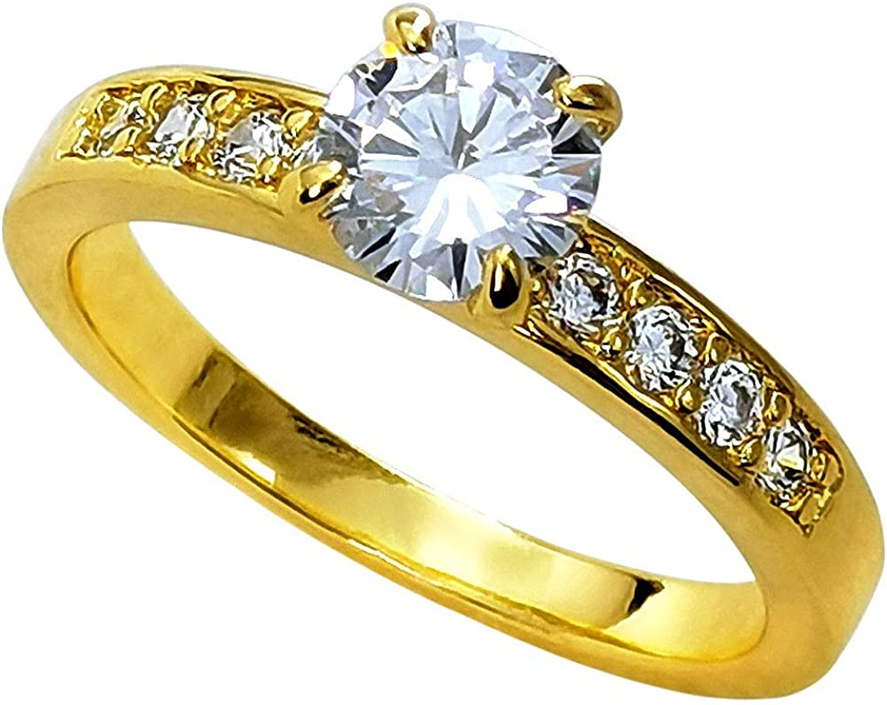 Fashion kimi2 R300 18K Gold Filled Women Party Engagement Wedding has a Main Stone Rings