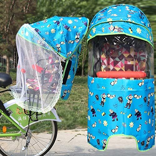 GLJY Fahrrad kindersitz Baldachin hinten elektroauto Vier Jahreszeiten universal erhöhen Sonnenschirm, Winddicht Gaze strahlenschutz warm Baby Reise Wetterschutz,C