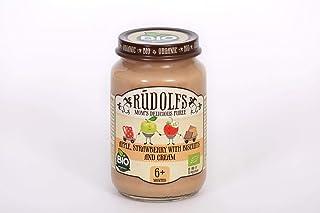 Rudolfs Apple, Strawberry Baby Puree W. Bicuits & Cream, 190 g