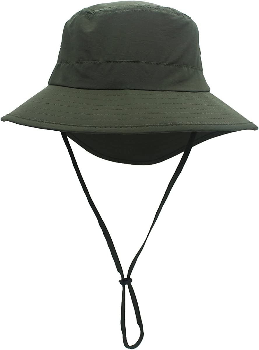 Casual Fashion Breathable and Long Fishtail Style Bucket hat Sun hat