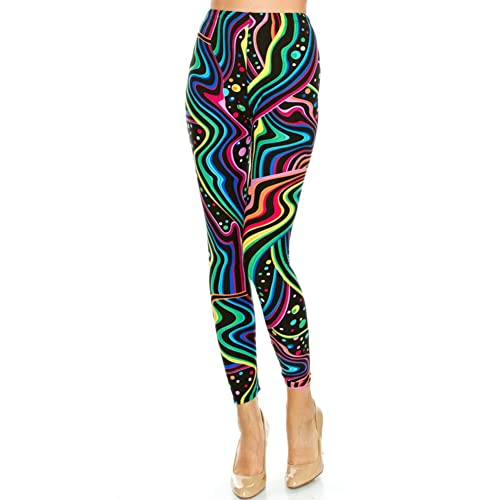 57be45433024a Women's Regular Colorful Psychedelic Pattern Printed Legging