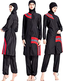 90d80d7395 ziyimaoyi Femme Ensemble de Maillot de Bain de Femme Musulmane Burkini  Maillots de Bain Modeste Islamique