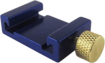"""Ruler Stop Fence with 12/"""" Machinist Rule Anodized Brass Knob Taytools 108880"""