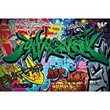 GREAT ART Mural De Pared – Graffiti – Letras De Colores Pop Art Estilo Escritura Hip Hop Arte Callejero Urbano Foto Papel Pintado Y Tapiz Y Decoración (336 x 238 cm)