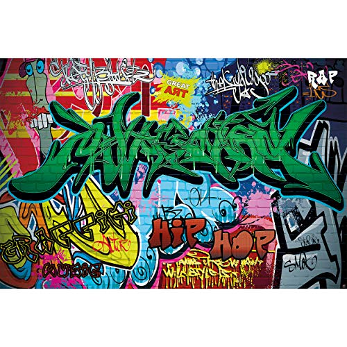 GREAT ART XXL Póster Cuarto De Los Niños – Graffiti –  Letras De Colores Pop Art Estilo Escritura Hip Hop Arte Callejero Urbano Cartel De Pared Foto Y Decoración (140 X 100 Cm)