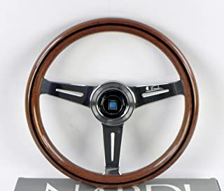 NARDI Steering Wheel - Classic - 330mm (12.99 inches) - Mahogany Wood with Polished Spokes - Part # 5061.33.3000
