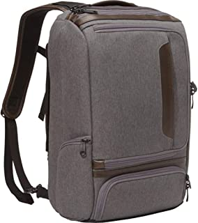 Professional Slim Laptop Backpack with Leather Trim for Travel