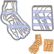 Set of 2 Knee and Foot Bone cookie cutters (Designs: Knee Bone X-Ray and Human Foot Bone X-Ray), 2 pieces - Bakerlogy