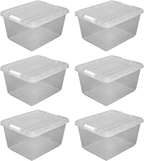 アイリスオーヤマ クリア ボックス 6個セット 幅36×奥行45×高さ24.5cm CB-25