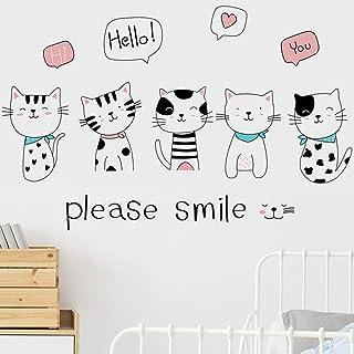 Oeil de Chat Papier peint motif Wall Decals-Vinyl Sticker Art