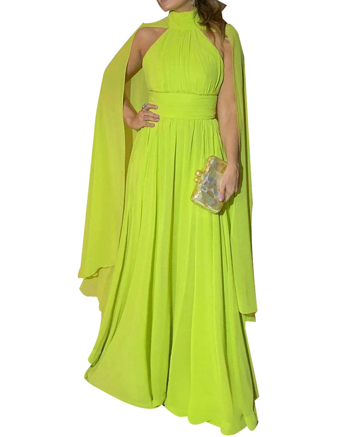 Available at Amazon: VERWIN Long Sleeve Round Neck Patchwork Plain Women's Bodycon Dress Flare Sleeve Midi Dress