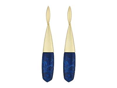 Kendra Scott Freida Linear Earrings (Gold Cobalt Howlite) Earring