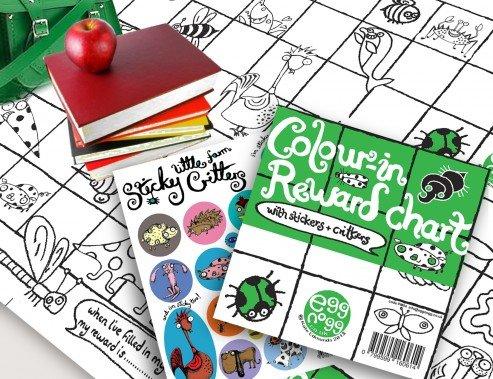 Kleur-in beloningskaart - Compleet met Stickers & Critters (PM04)