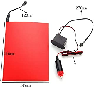 FidgetGear A5 EL Panel Electroluminescent Cuttable Light with Inverter Paper Neon Sheet Red Show One Size