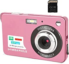 Digital Camera,2.4 Inch FHD Pocket Cameras Rechargeable 24MP Camera for Backpacking with 8X Digital Zoom Compact Cameras f...