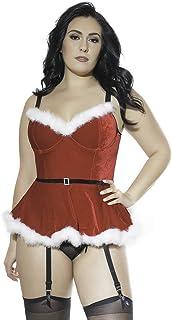 3621a192d29 Coquette Women s Plus Size Diva Stretch Velvet Peplum Bustier