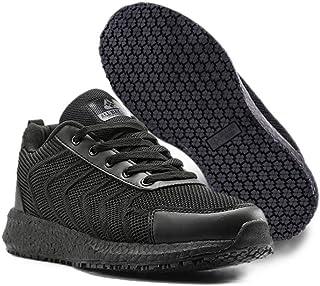 ALL DAY GRIP Men's and Women's Ultra Comfort Slip-Resistant Shoes. Stain Repellent Upper. Non Slip Work Sneakers for Healt...