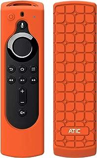リモコンカバー ATiC 5.6インチ 新登場 Fire TV Stick 4K専用リモコンカバー シリコン製 耐衝撃 防水防塵 Alexa対応音声認識リモコン用保護カバー Orange