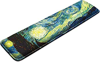 iColor Keyboard Wrist Rest Pad Memory Foam Gaming Hand Wrist Pillow Rest Desk Pad For Mac PC Gamer Home & Office, Laptop Computer, Anti-Slip and Pain Relief (Starry-night)