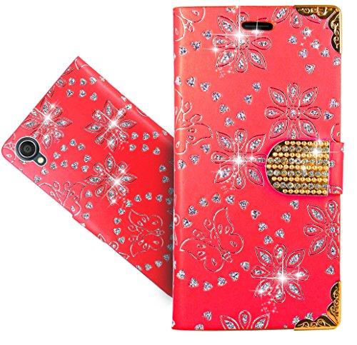 Asus Zenfone Live (L1) ZA550KL Handy Tasche, FoneExpert® Wallet Hülle Cover Bling Diamond Hüllen Etui Hülle Ledertasche Lederhülle Schutzhülle Für Asus Zenfone Live (L1) ZA550KL