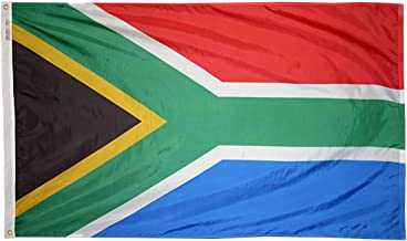 Annin Flagmakers Model 197565 South Africa Flag 3x5 ft. Nylon SolarGuard Nyl-Glo 100% Made in USA to Official United Nations Design Specifications.