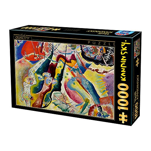 Unbekannt Puzzle da 1000 Pezzi di Kandinsky Vassily: Painting with Red Spot