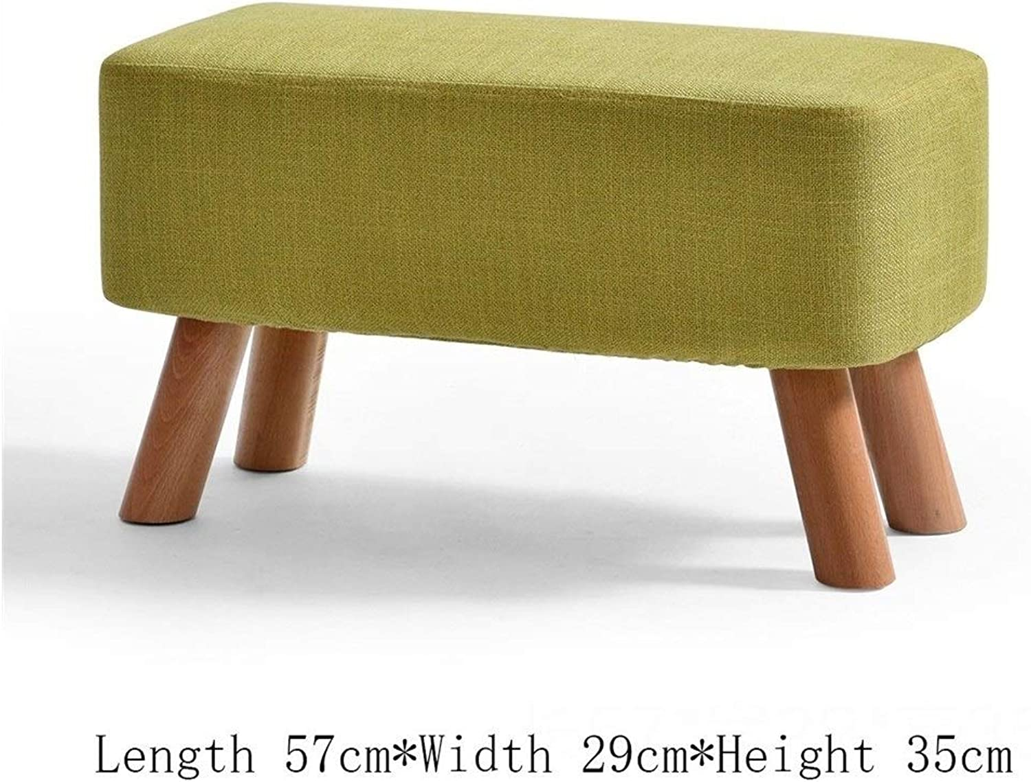 Solid Wood Cotton Linen Fashion Simple Creative Sofa Living Room Bedroom Home shoes Replacement Stool FENPING (color   B)