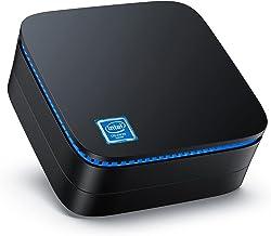 Mini PC Windows 10 Pro Mini Computer Micro PC Intel Celeron J3455 Processor(up to 2.3 GHz) 4GB RAM 64GB ROM, Ideal for Bus...