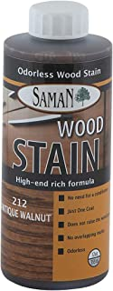 SamaN TEW-212-12, Antique Walnut, Interior Water Based Stain for Fine Wood, 12 oz, 12-Ounce